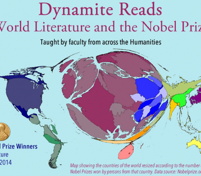 Nobel winners world map