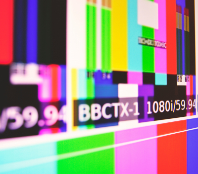 colorful television static