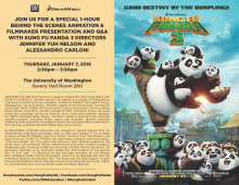 Q&A Flyer with Kung Fu Panda 3 directors