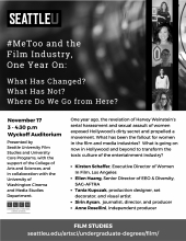 Metoo film event flyer