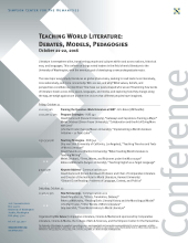 World Literature conference flyer